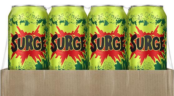 可口可乐宣布恢复Surge大浪柑橘汽水