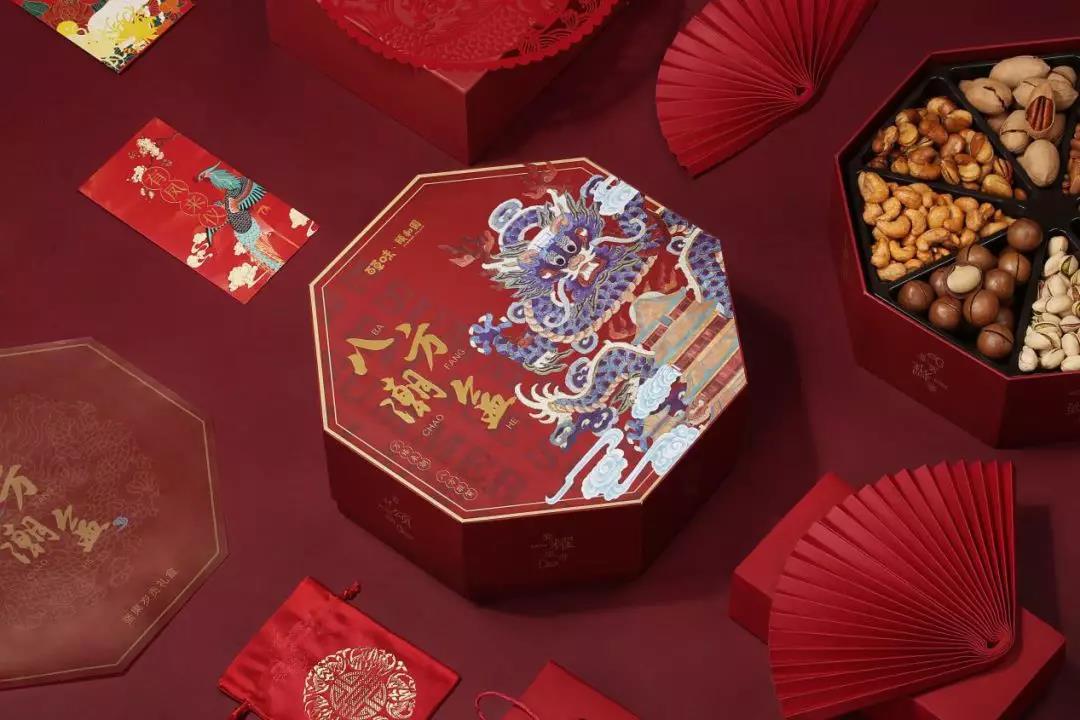 百草味X颐和园联手推出八方潮盒 食品企业中掀起一股国潮风